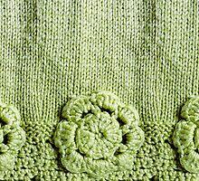 Green Crochet Flower #2 by DeneWest
