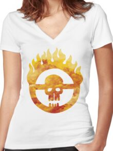 mad max fury road wheel Women's Fitted V-Neck T-Shirt