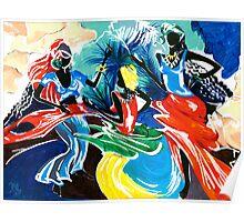 African Dancers No. 1 - Rhythm, Rhythm, Rhythm... Poster