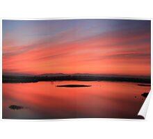 Thanksgiving sunset at Llano Seco Poster