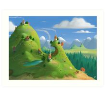 Mountain Village Art Print