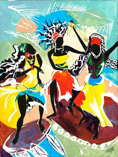 African Dancers No. 4 - Rhythm, Rhythm, Rhythm... by Elisabeta Hermann