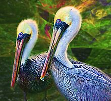 2 Pelicans Bluff by Julie Everhart