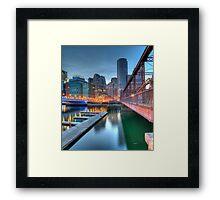 Boston, Fort Point Framed Print