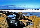 Surf, Rocks & Sky by Marina Raspolich