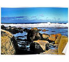 Surf, Rocks & Sky Poster