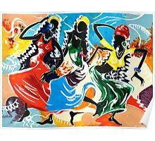 African Dancers No. 2 - Rhythm, Rhythm, Rhythm... Poster