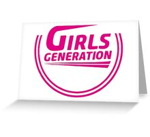 Girls' Generation 2015 logo comeback Greeting Card