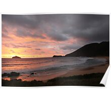Sunrise on Lord Howe Island Poster