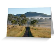 Misty Morning Road - Outback Queensland Australia Greeting Card