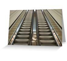Escalators Greeting Card
