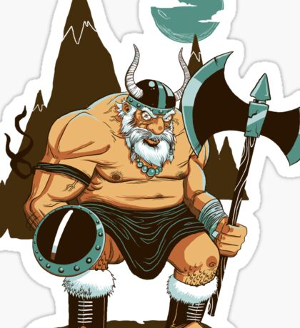 The Angry Axe Man Sticker