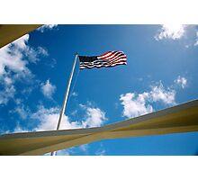 American Flag - USS Arizona Photographic Print