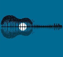 Trees sea and the moon turned guitar by PashaTP
