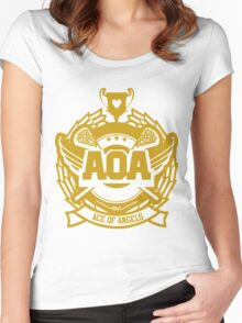 AOA  HEART ATTACK Women's Fitted Scoop T-Shirt
