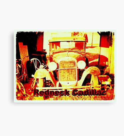"""""""Redneck Cadillac""""... prints and products Canvas Print"""