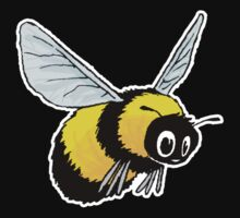 happily bumbling bumble bee Kids Clothes