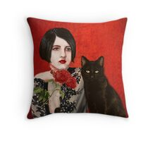 Mister Noir and I  Throw Pillow