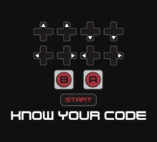 """Know Your Code"" Nintendo NES Konami Code by unluckydevil"