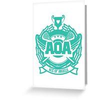 AOA - Heart Attack logo  Greeting Card