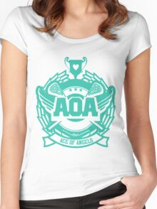 AOA - Heart Attack logo  Women's Fitted Scoop T-Shirt