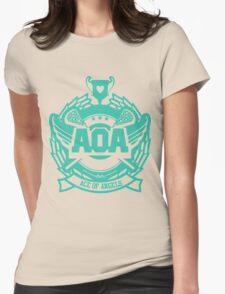 AOA - Heart Attack logo  Womens Fitted T-Shirt