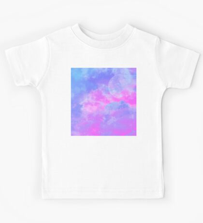Blue Lilac Dream Skyscape Kids Tee