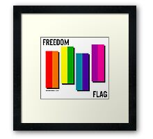the freedom flag // black Framed Print