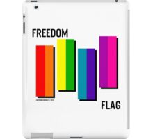 the freedom flag // black iPad Case/Skin