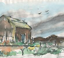 BARN(C1992)(SKETCH) by Paul Romanowski