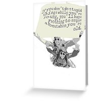 SKYDIVE.. Greeting Card