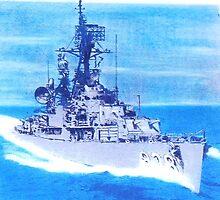 DDR 838 USS Ernest G Small South China Sea 1965 by David M Scott
