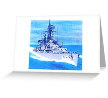 DDR 838 USS Ernest G Small South China Sea 1965 Greeting Card