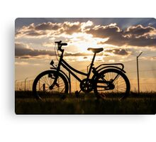 Bicycle silhouette... South Africa Canvas Print