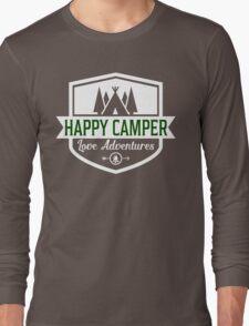 Happy Camper - Camping T Shirt Long Sleeve T-Shirt