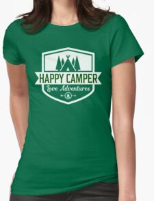 Happy Camper - Camping T Shirt Womens Fitted T-Shirt