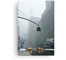 New York 42th Street - Traffic light Canvas Print