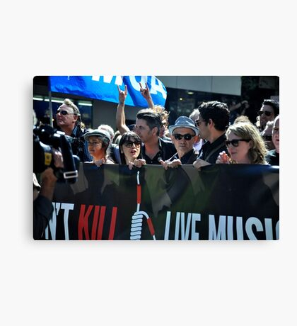 S.L.A.M. (Save Live Australian Music) Protest Rally I. Canvas Print