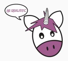 Be Realistic, Says the Unicorn Kids Tee