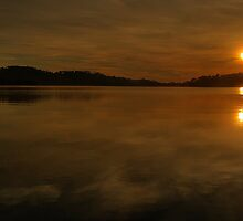 Contemplation - Narrabeen Lakes, Sydney - The HDR Experience by Philip Johnson