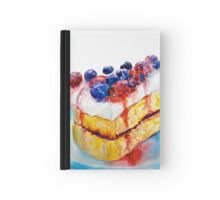 Delicious....Lucious Layer Cake with Berries and Whipped Cream Hardcover Journal
