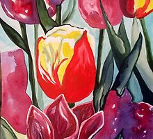 Spring Tulips by paintwithlove61