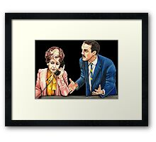 Fawlty Towers : Sybil and Basil Framed Print