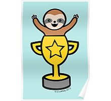 Baby Sloth in Winners Cup Poster
