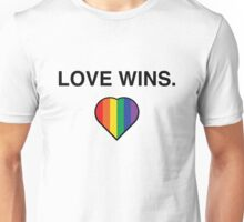 Love Wins Pro Gay Marriage  Unisex T-Shirt