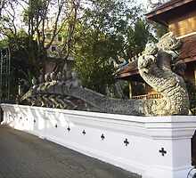 Three Headed Dragon Statue. by Mywildscapepics