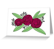 Purple Floral Bouquet Greeting Card