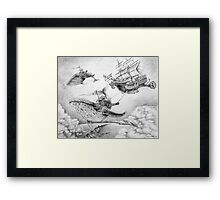 Wind Whales Framed Print
