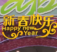 Happy New Year in Chinese by Romina .