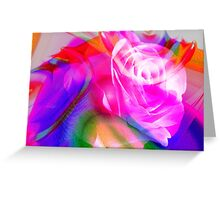 Abstract Rose. Greeting Card